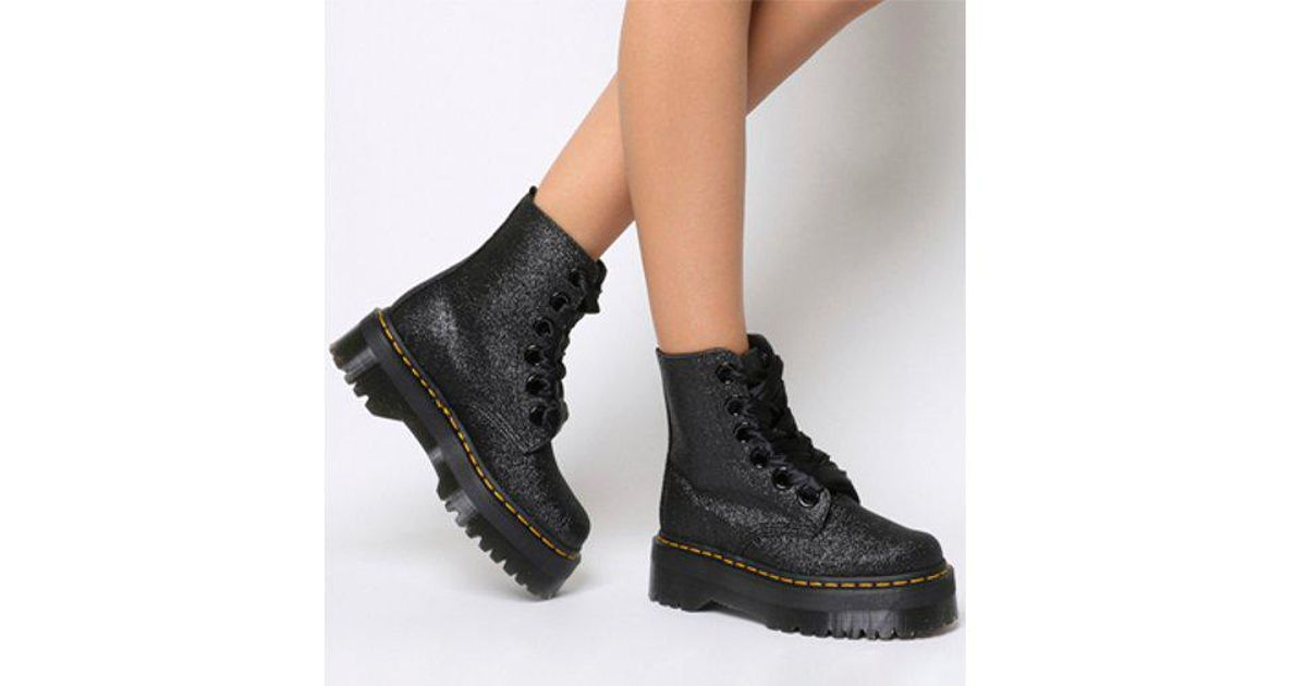 b4897b8ac Dr Martens Molly Black Glitter Platform Boots - Best Picture Of Boot ...