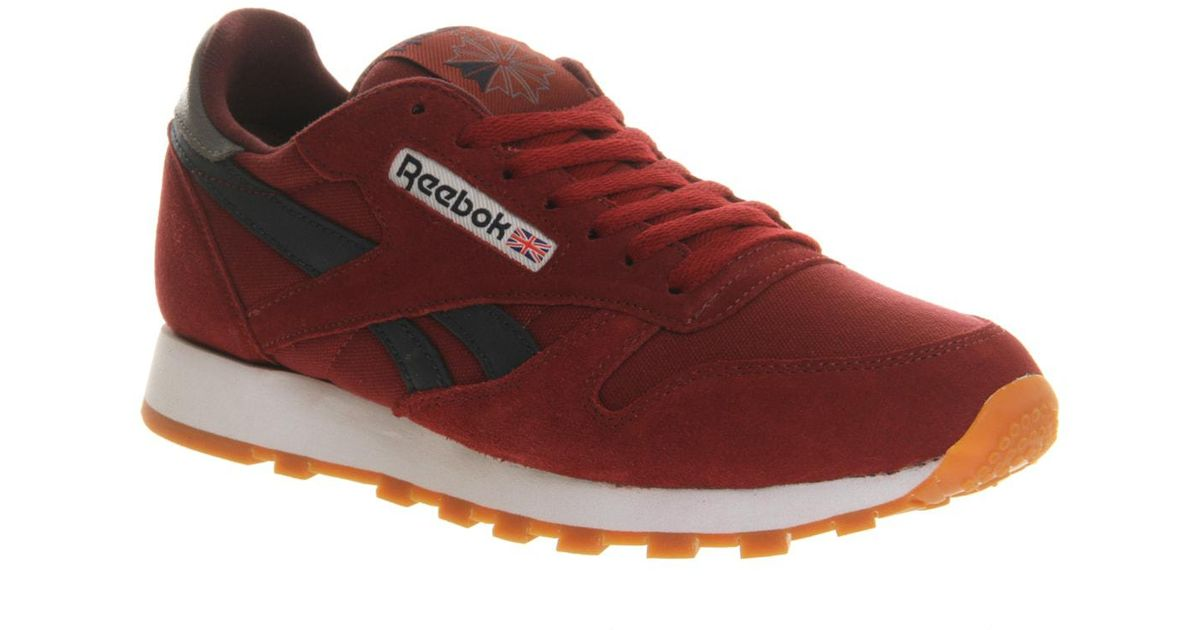 Red Reebok Cl Men Leather For Ib6vYf7gy