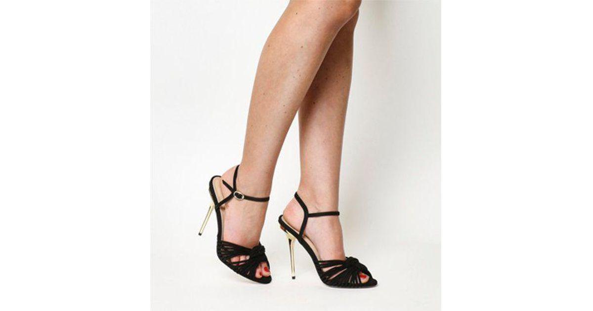 795d6d8780 Office Notice Me Strappy Single Sole Sandal in Black - Lyst