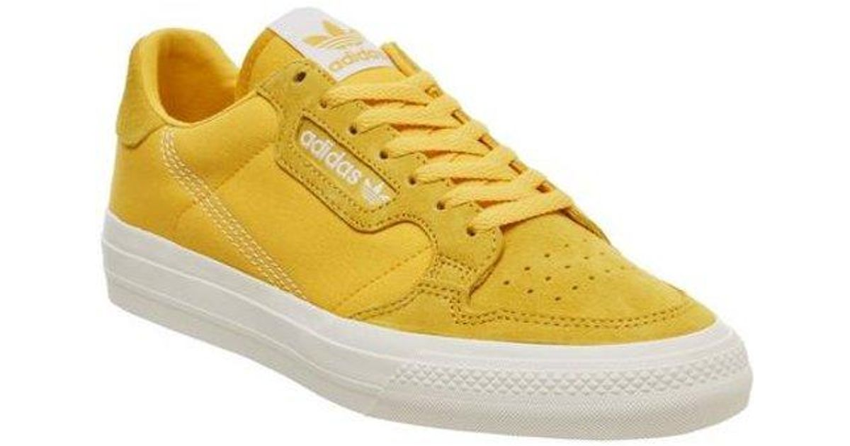adidas Continental Vulc in Yellow - Lyst