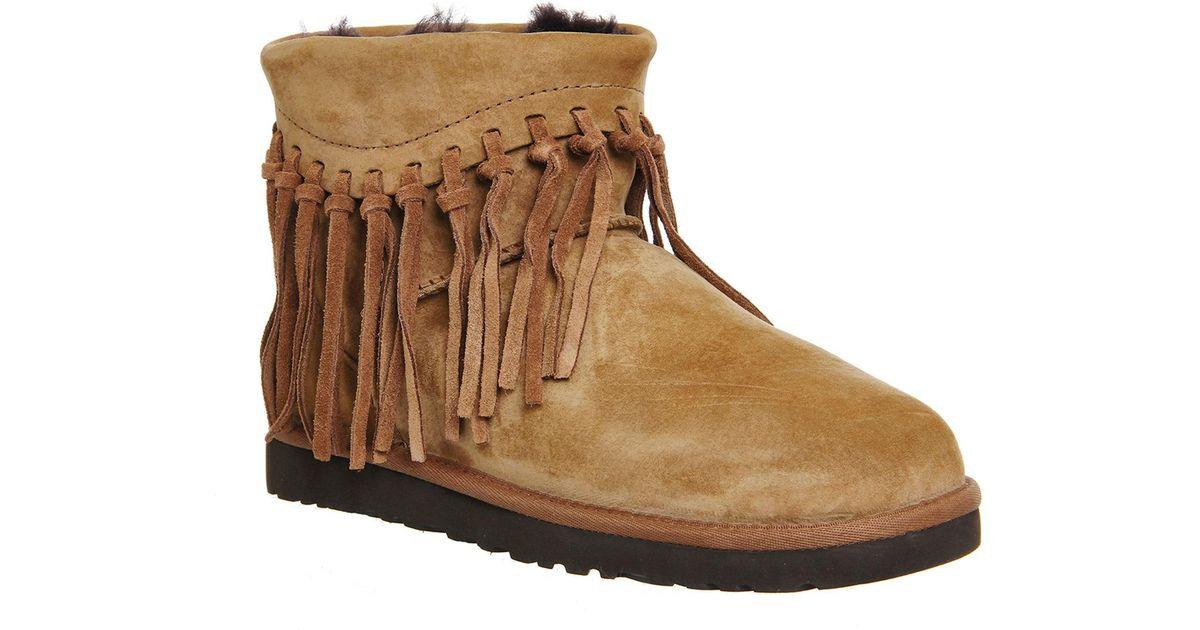 a6f77598e0b Ugg Brown Wynona Fringe Boots