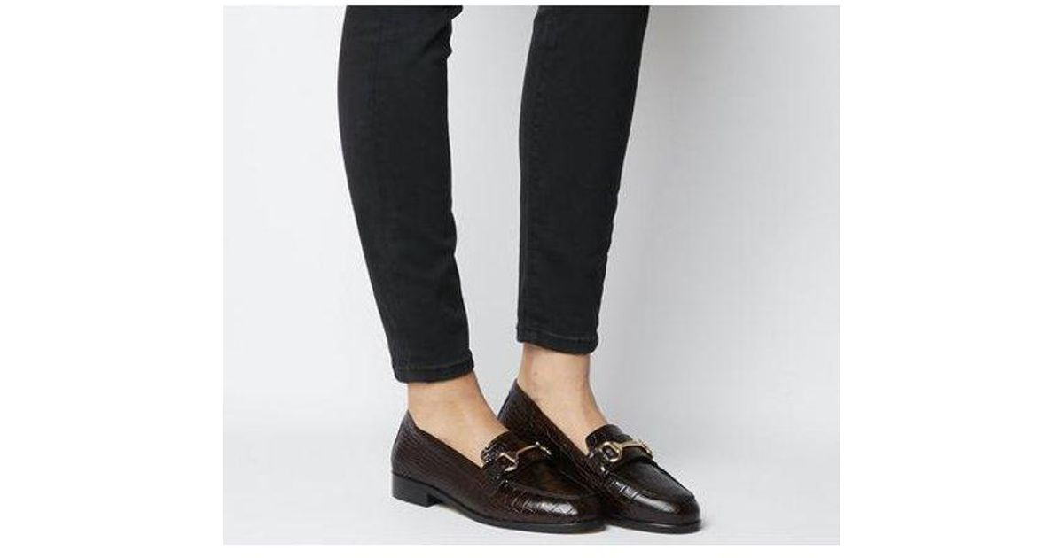 Office Leather Fluster Loafer in Brown