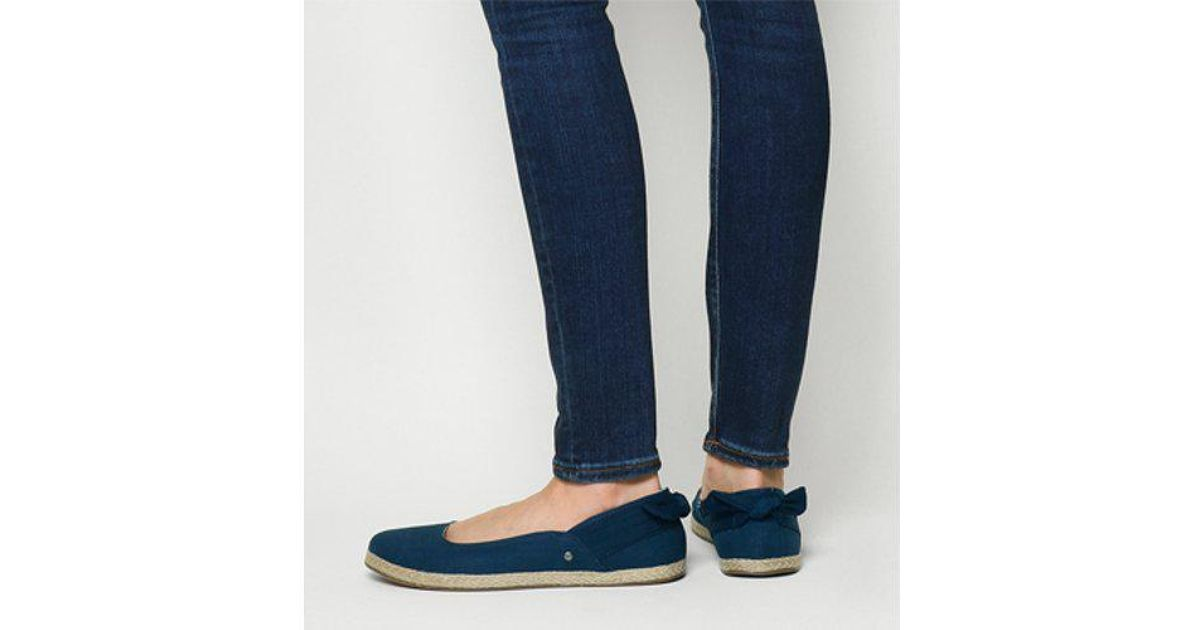UGG Canvas Perrie Slip On in Blue - Lyst