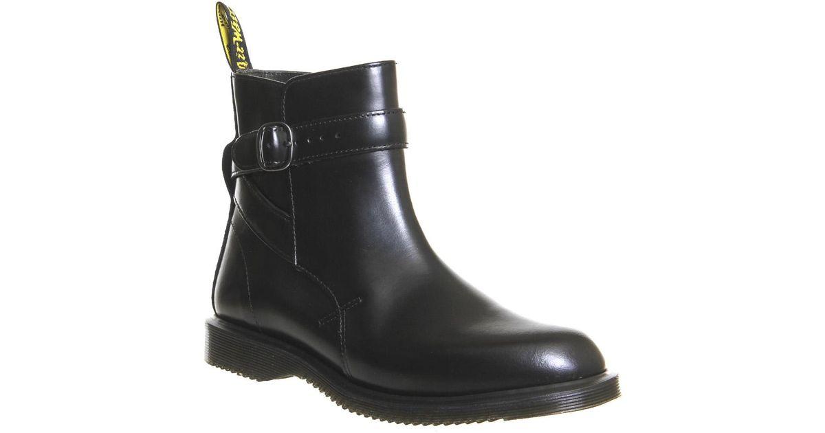 Black Kensington Jodphur Boots Teresa DrMartens srtChQd