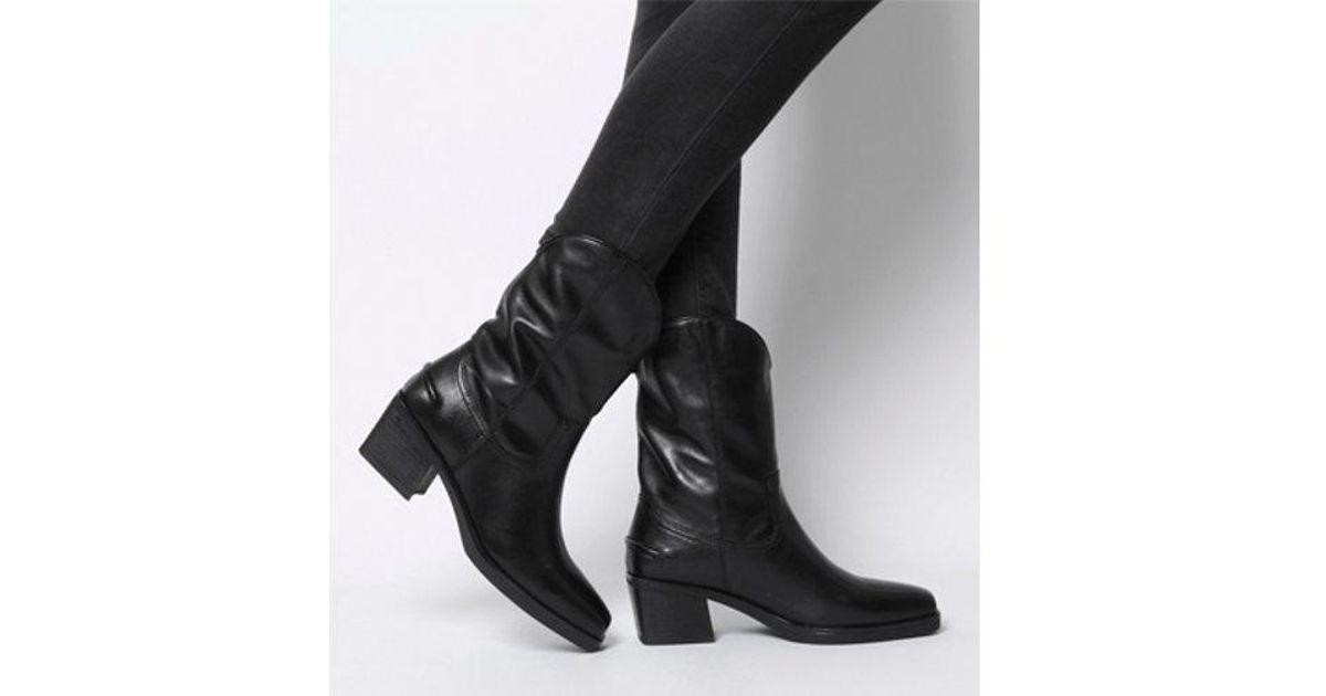Vagabond Simone Cowboy Boot in Black - Lyst