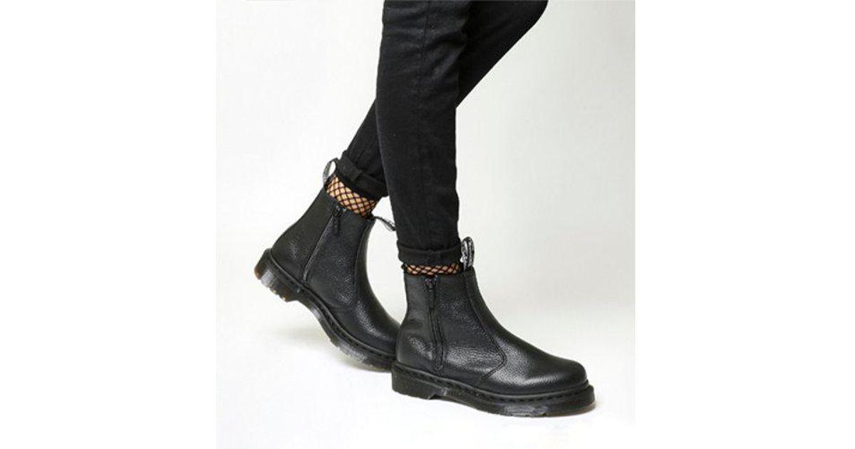 bdc3ef7538 Dr. Martens 2976 Zip Chelsea Boot in Black - Lyst
