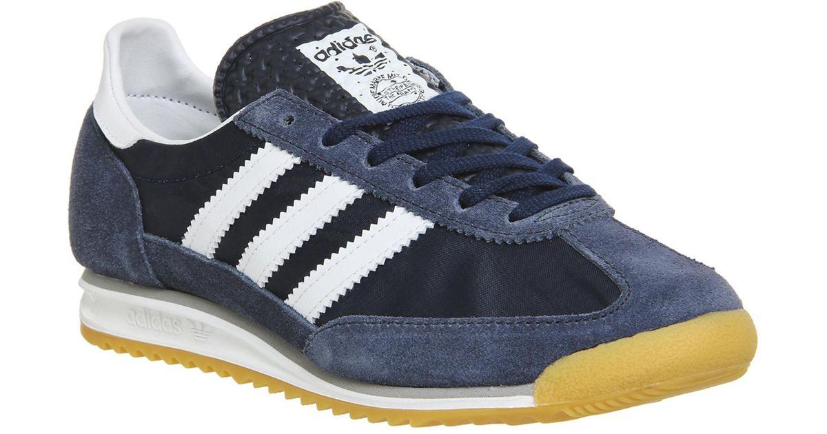 White & Blue) Australia.Mens Adidas Sl 72 Trainers