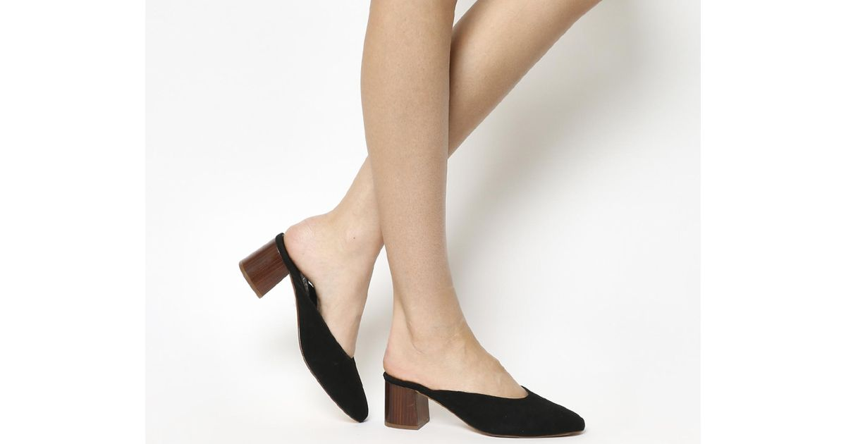 Office Suede Fleeting Closed Toe Mules