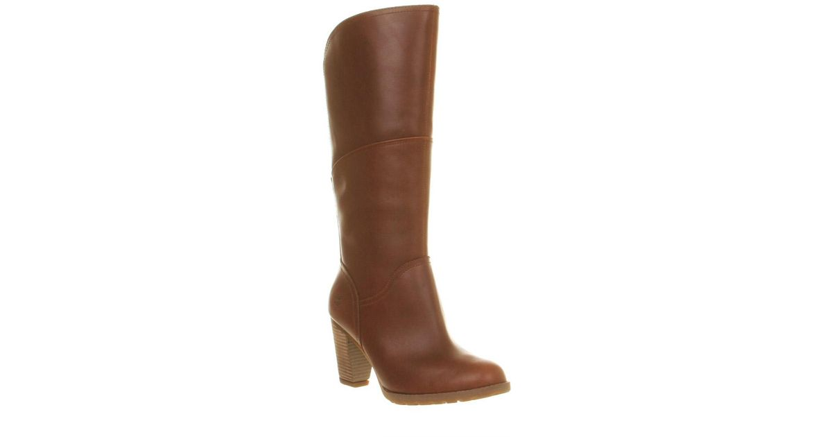 5954ef9351f Lyst - Timberland Stratham Heights Heeled Boots in Brown