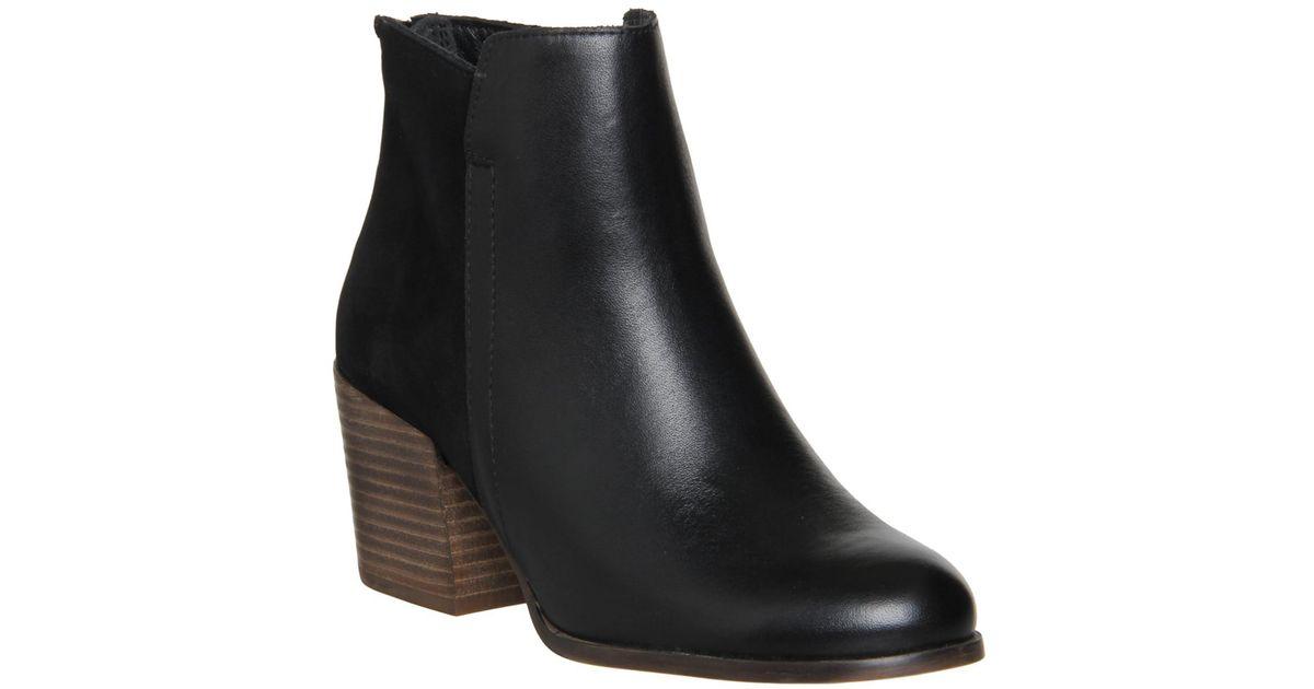 734108ff5e4d Office Fern Mid Heel Back Zip Boots in Black - Lyst