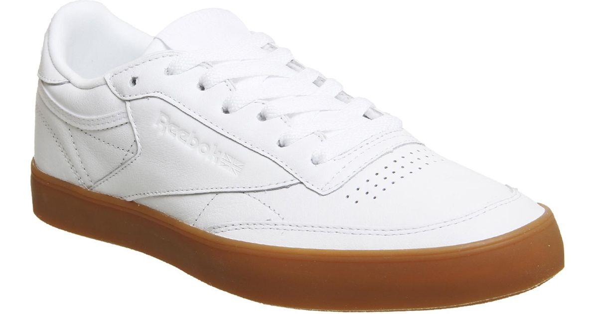 Reebok Leather Club C 85 Fvs in White