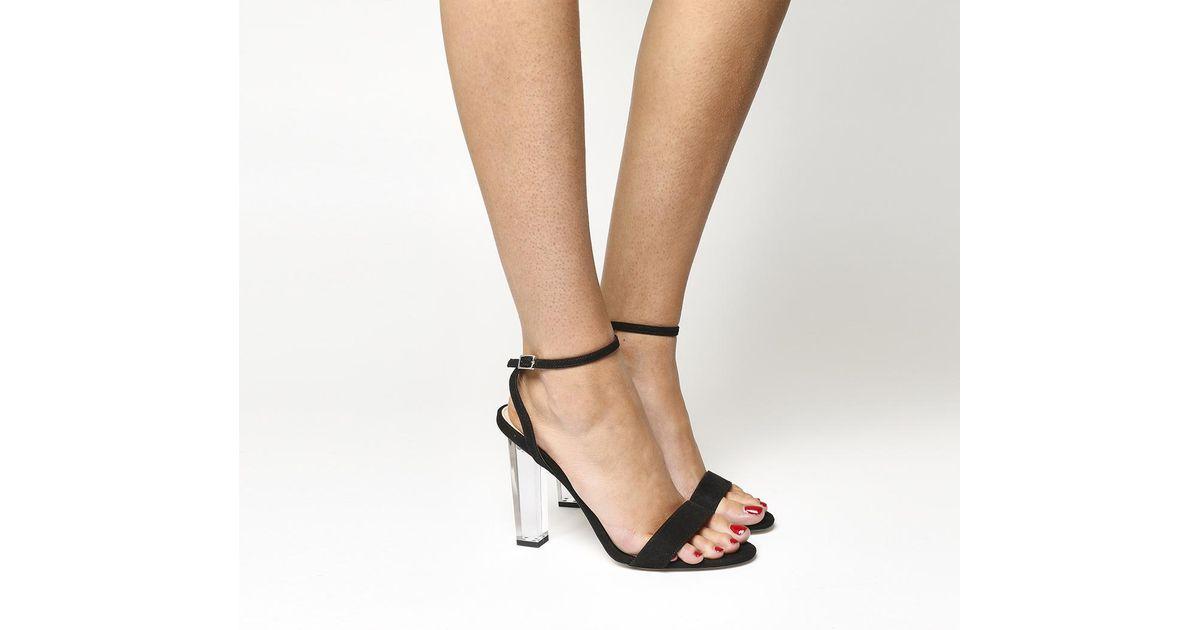 ca5b61ac585 Office Hover Perspex Heel Sandal in Black - Lyst