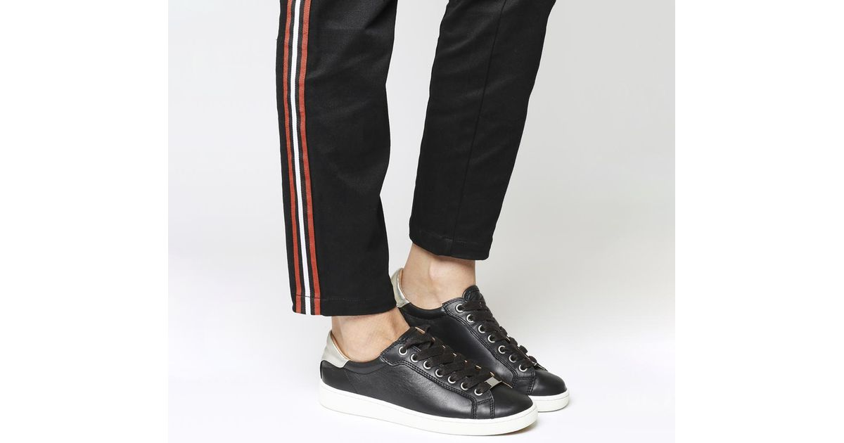 UGG Leather Milo Sneakers in Black - Lyst