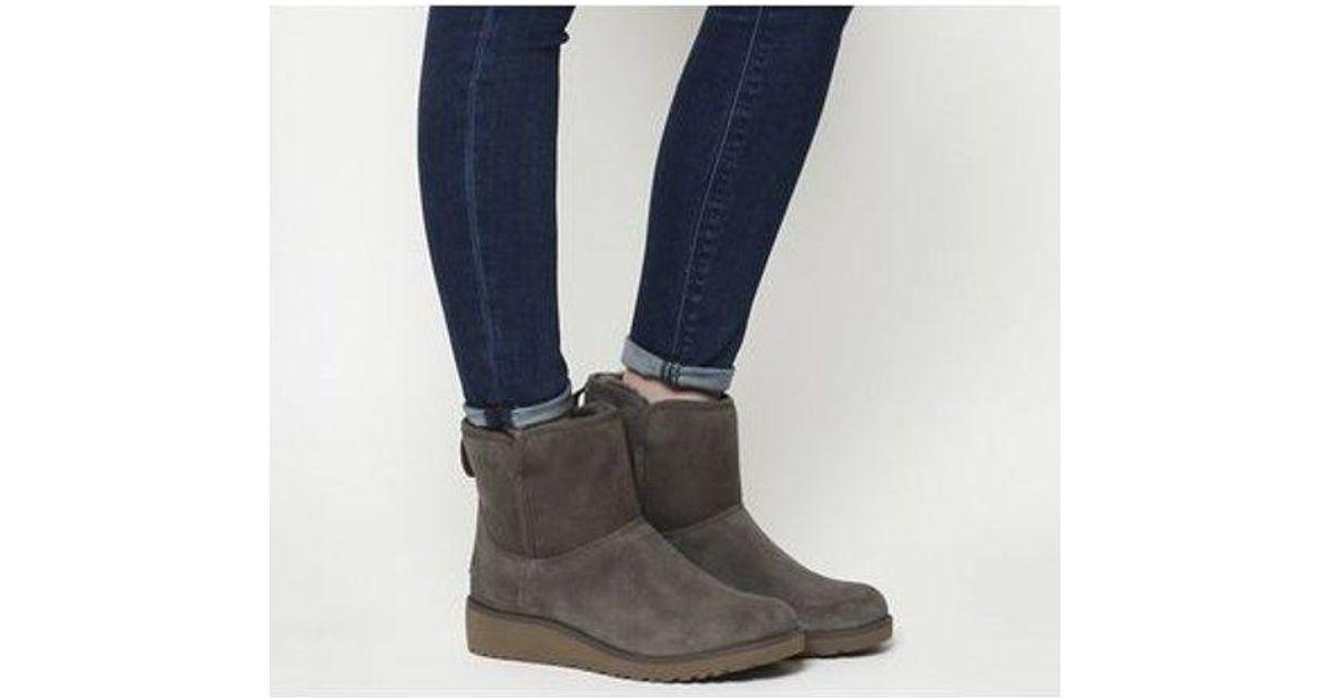 167ac77c03b Ugg Gray Classic Slim Kristin Mini Boots