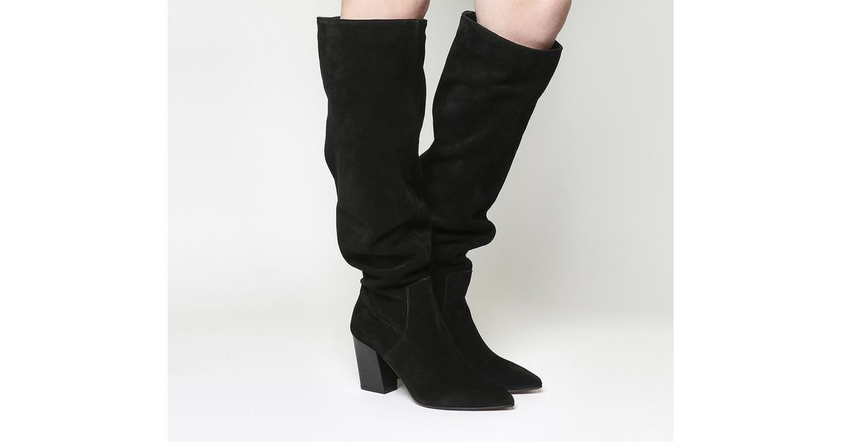 Office Kola Slouch Suede Knee Boots in