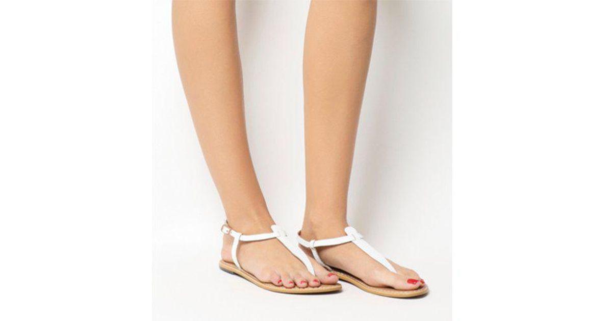 47ed002345ae Lyst - Office Samba Toe Post Sandals in White
