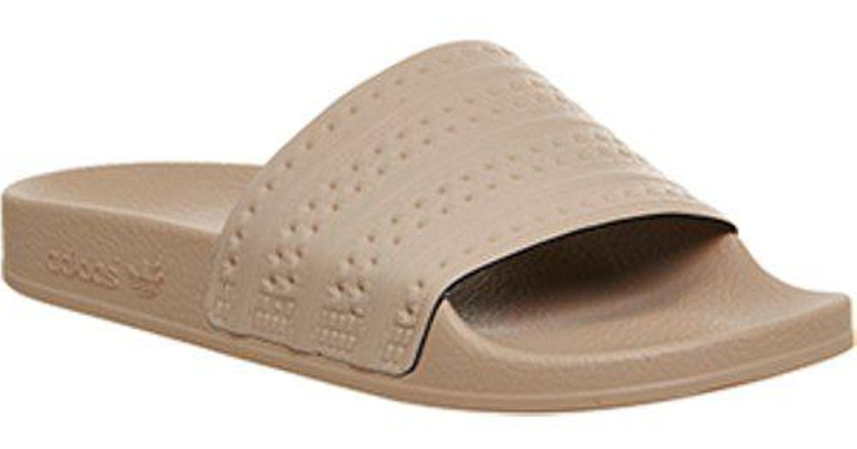 d72a1de82 Lyst - adidas Adilette Slider in Natural
