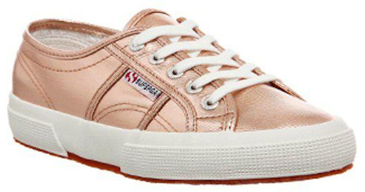 Superga Cotton 2750 in Rose Gold (Pink