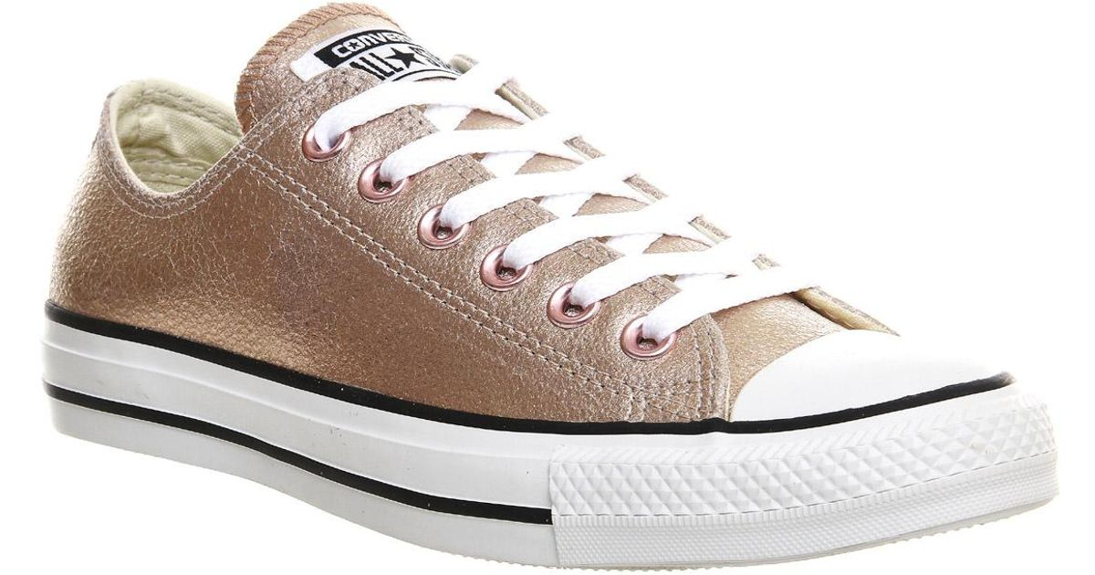 Converse All Star Low Leather in Rose