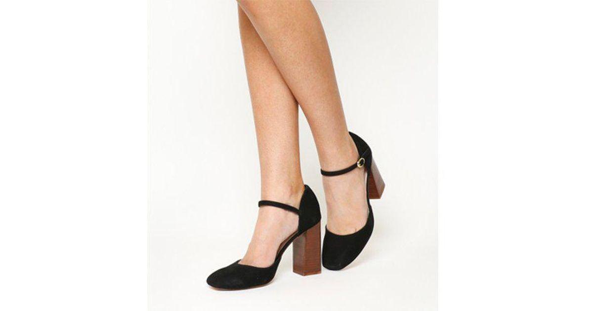 black block heel mary janes