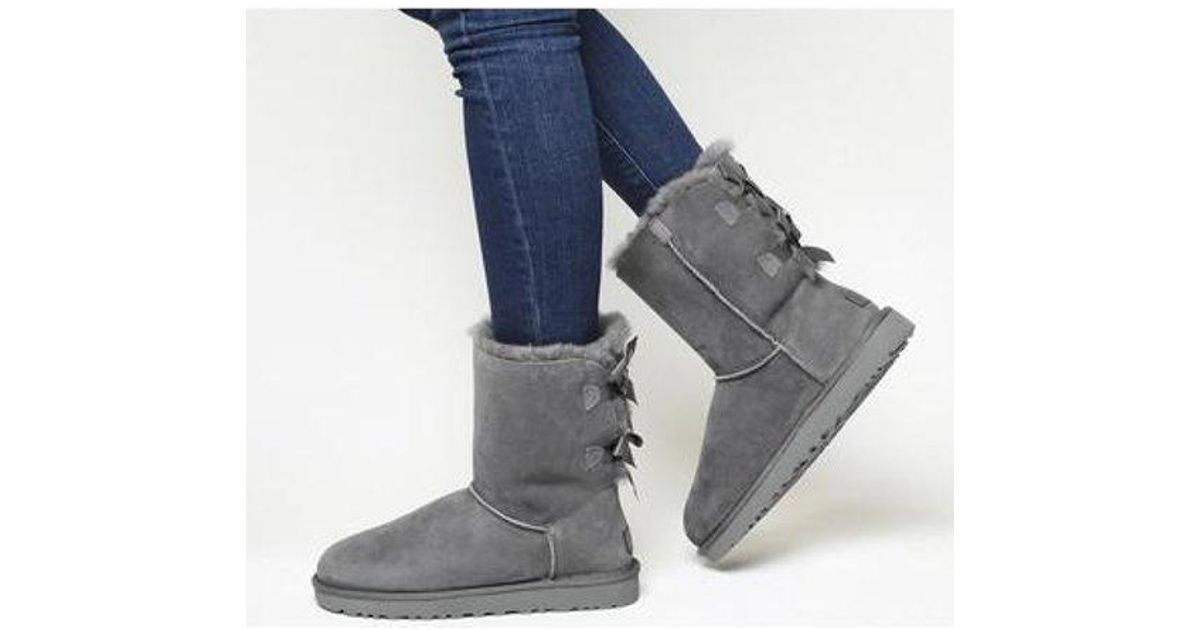 UGG Suede Bailey Bow Ii Calf Boots in