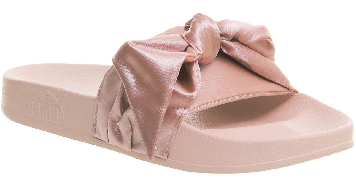 official photos 7c347 1f291 PUMA Pink Fenty Ribbon Slide