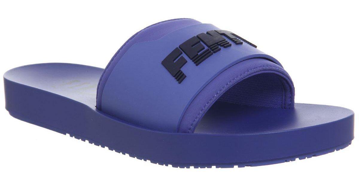 huge discount b51fc 57ce2 PUMA Blue Fenty Slide
