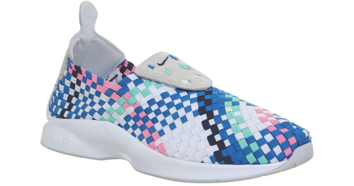 Nike Rubber Air Woven Trainers in Blue
