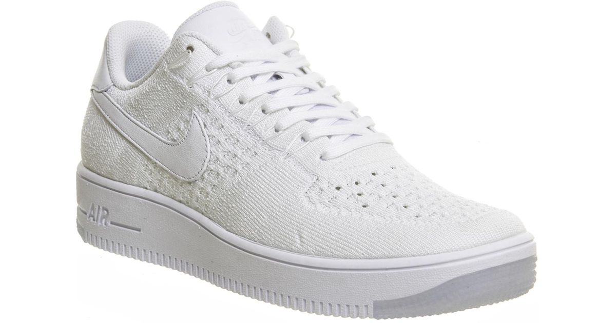 new style 7f0cb 64311 Nike White Af1 Flyknit Low for men