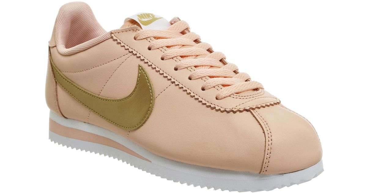 factory price d8613 14bfa coupon code lyst nike classic cortez og trainers in metallic b140f 2434f