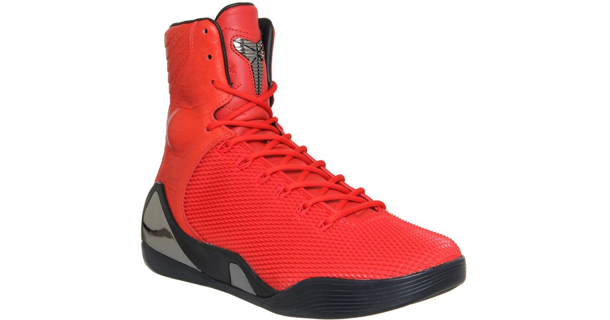 2e85bb524eb41 Nike - Red Kobe Ix Hi Kurim Ext for Men - Lyst