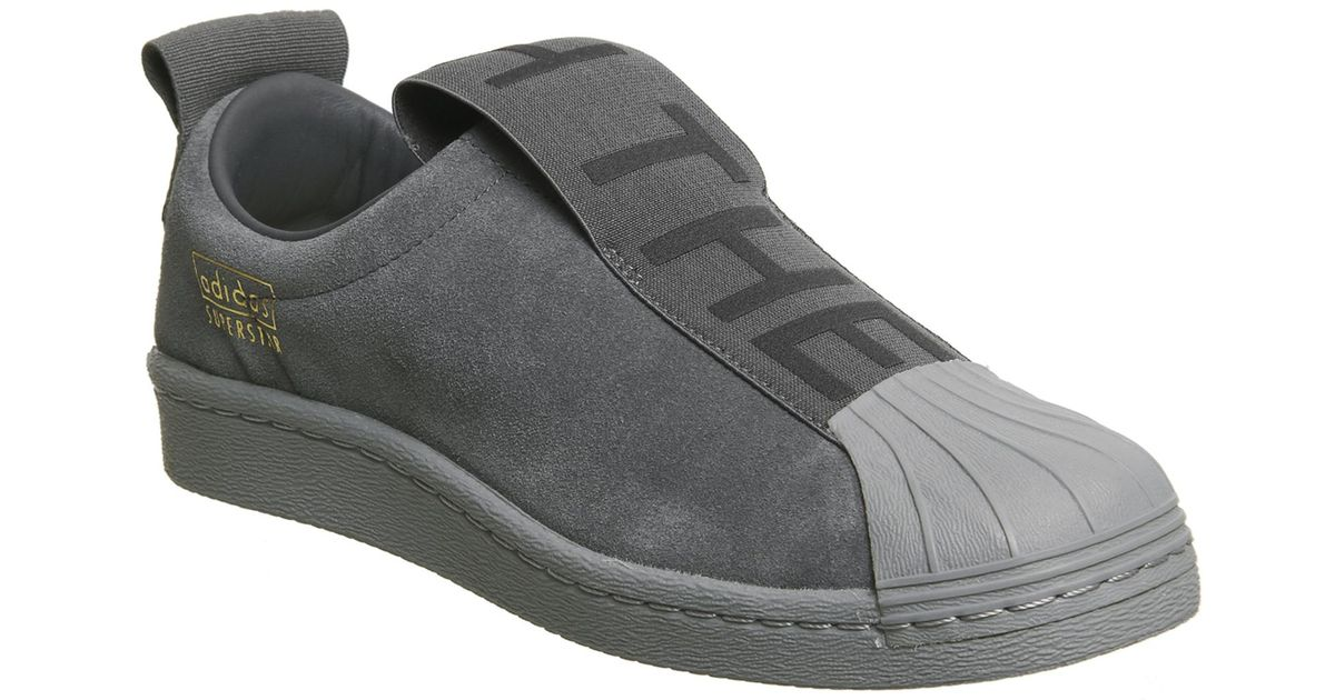 info for eae8a 9cfda Adidas Gray Superstar Bw35 Slip On