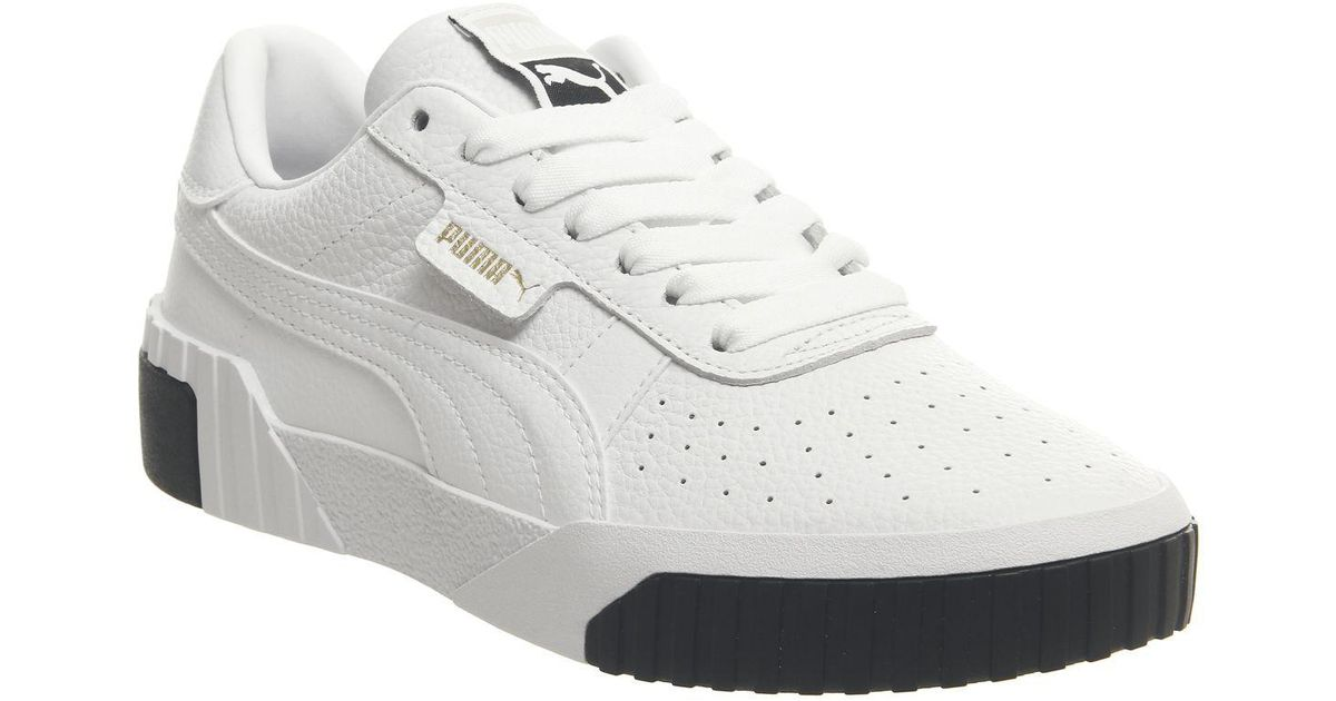 PUMA Leather Cali Trainers in White - Lyst