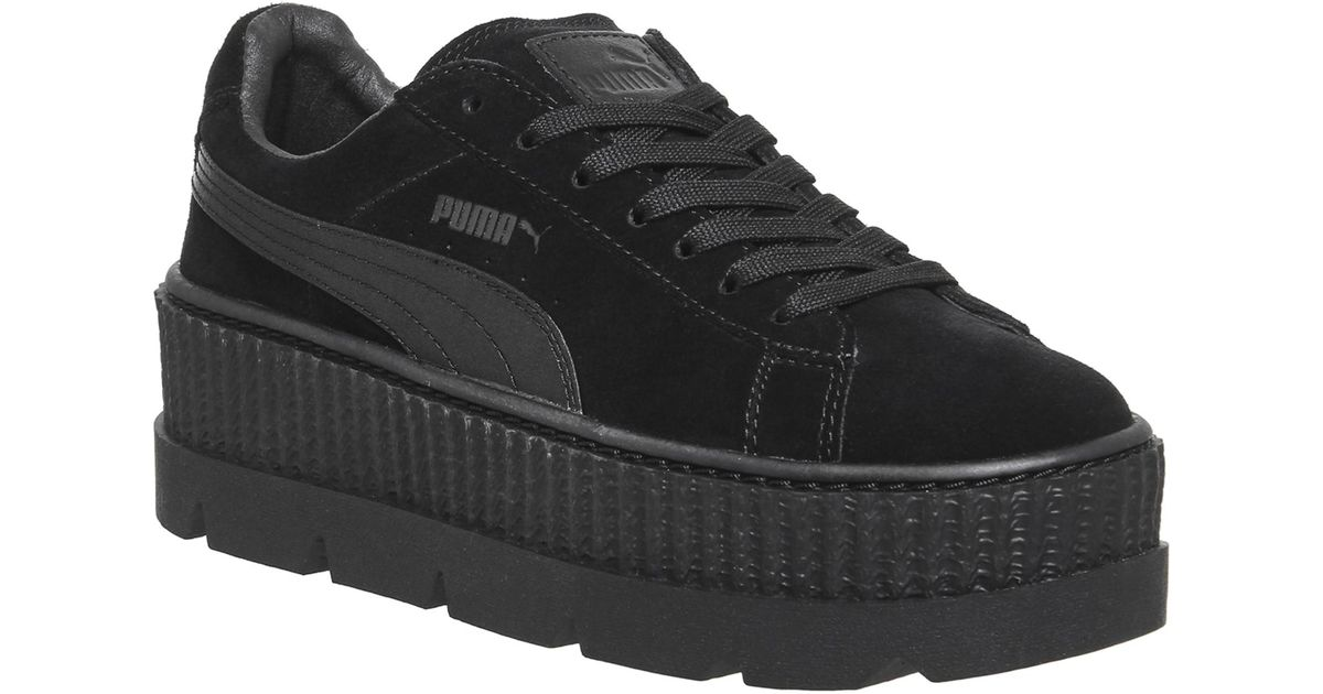 separation shoes 6aba0 9df26 PUMA Black Cleated Creepersuede Womens - Size 7.5w for men