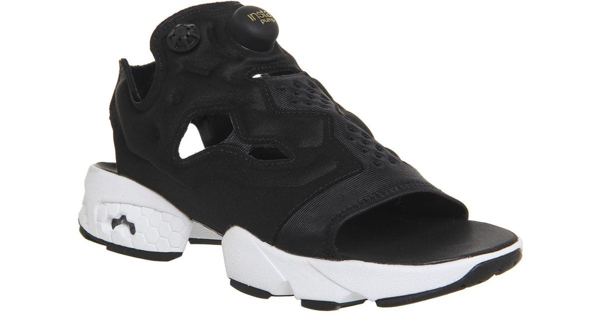 Reebok Instapump Fury Sandal in Black