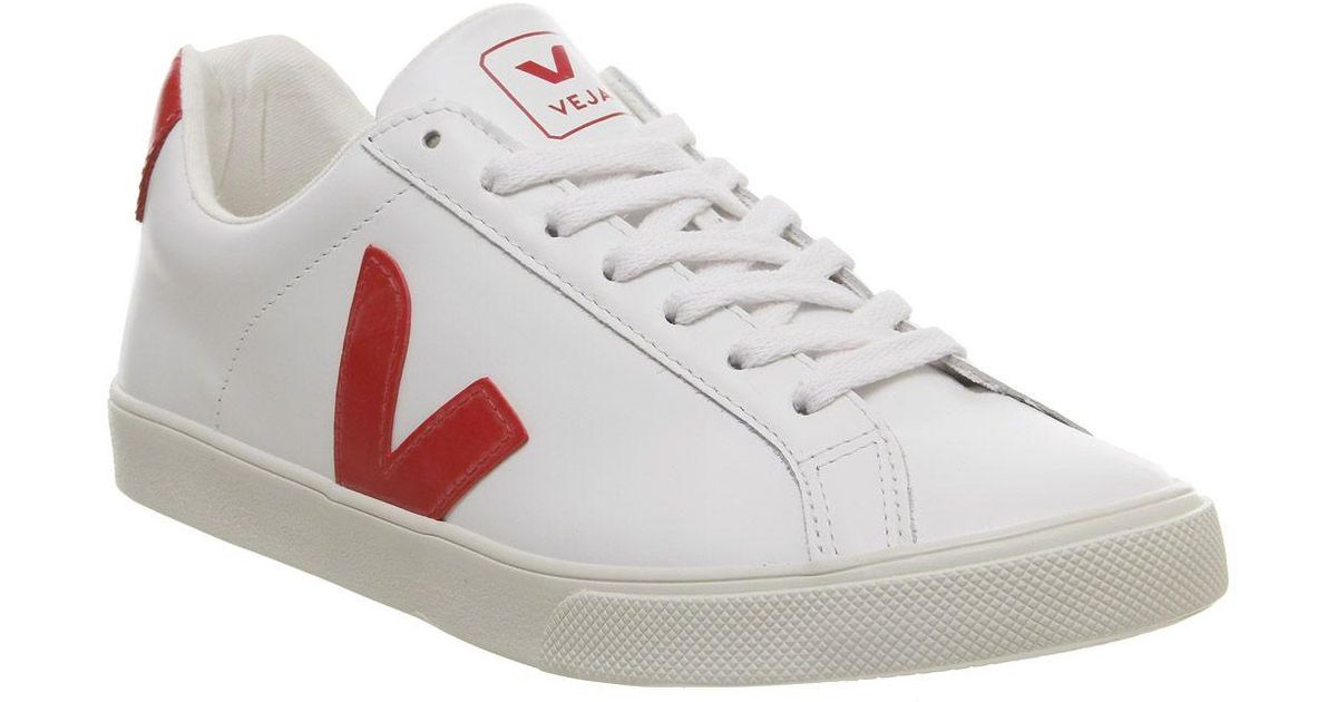 Veja Leather Esplar Trainers in White