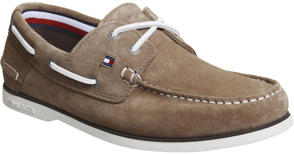 Tommy Hilfiger Suede Classic Boat Shoes
