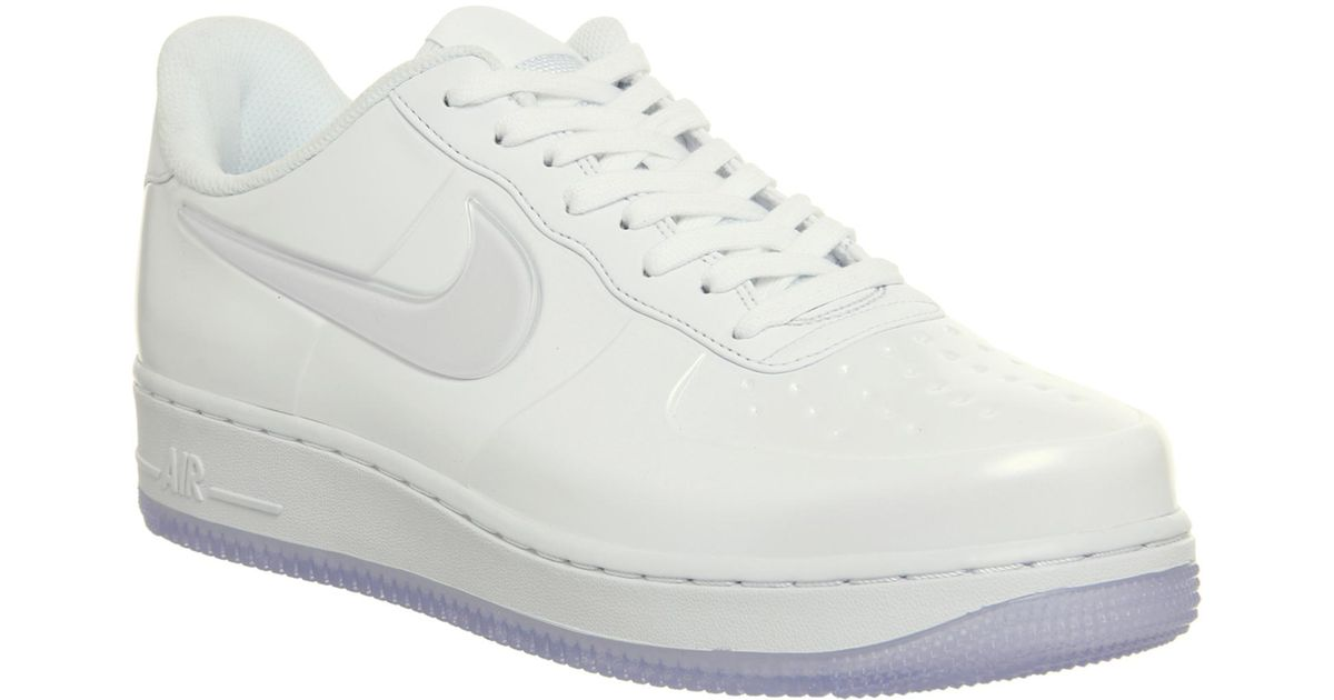 detailed look 762a2 fbc3b Nike White Af1 Foamposite Pro Cup Trainers for men