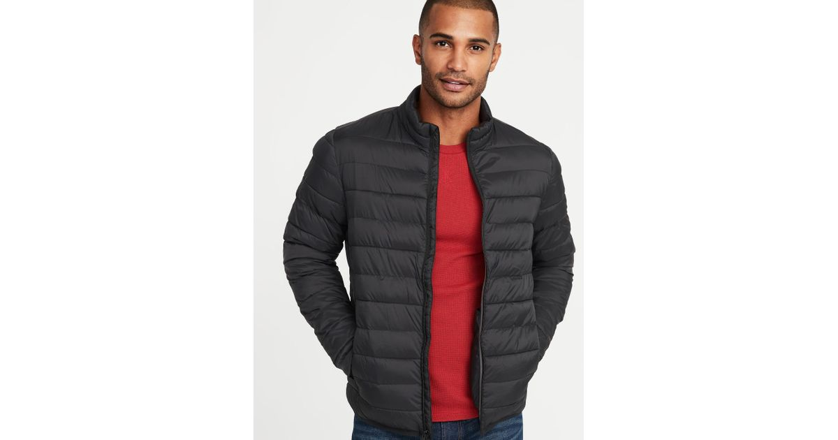a80cd0848d23 Lyst - Old Navy Water-resistant Packable Quilted Jacket in Black for Men