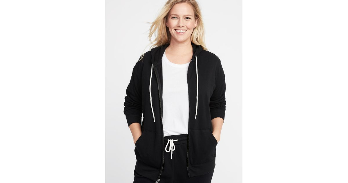 b6c918657d496a Lyst - Old Navy Relaxed Plus-size Zip Hoodie in Black