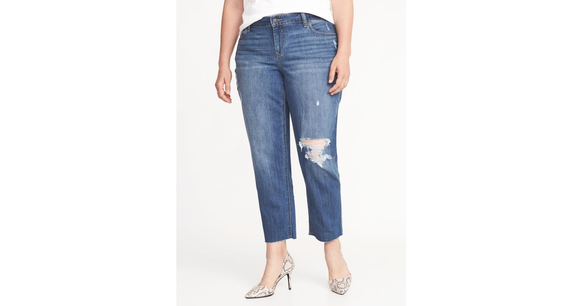 04748995a87ec Lyst - Old Navy High-rise The Plus-size Power Jean