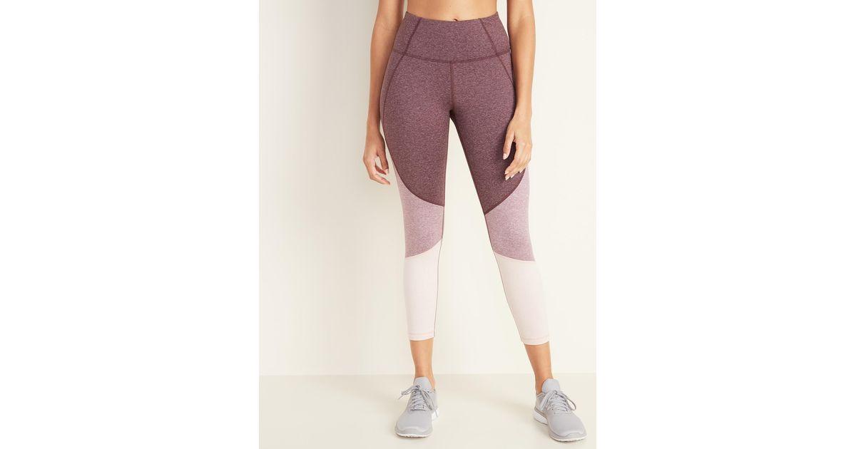 Comfortable high Waisted Leggings for Women Workout Yoga Pants Nautical Blue Plaid Lattice Gym Legging