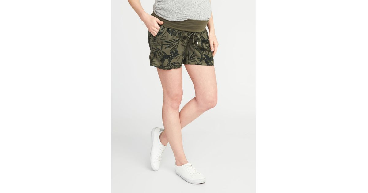 4cbdab25790ea Lyst - Old Navy Maternity Roll-panel Soft Shorts (5