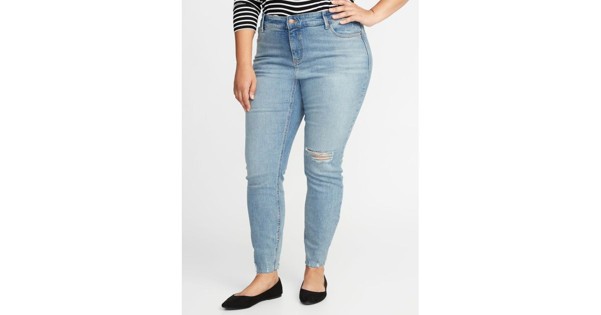 185353994de Old Navy High-rise Secret-slim Pockets Plus-size Rockstar Super Skinny Jeans  in Blue - Lyst