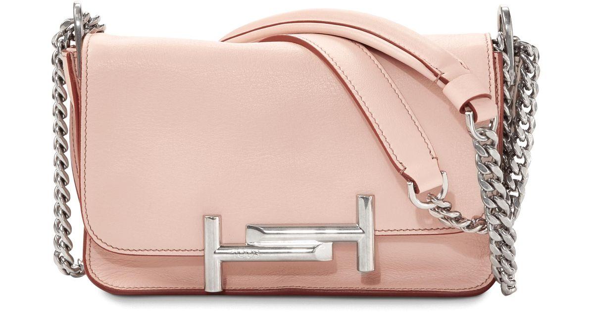 6fff60e963 Tod's Mini Double T Crossbody Bag in Pink - Lyst