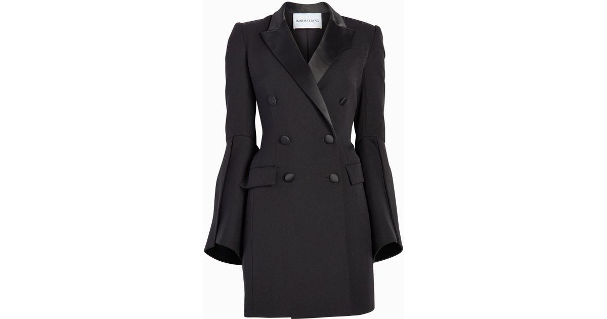 2bfaa9b5bfd Prabal Gurung Tux Jacket Dress in Black - Lyst