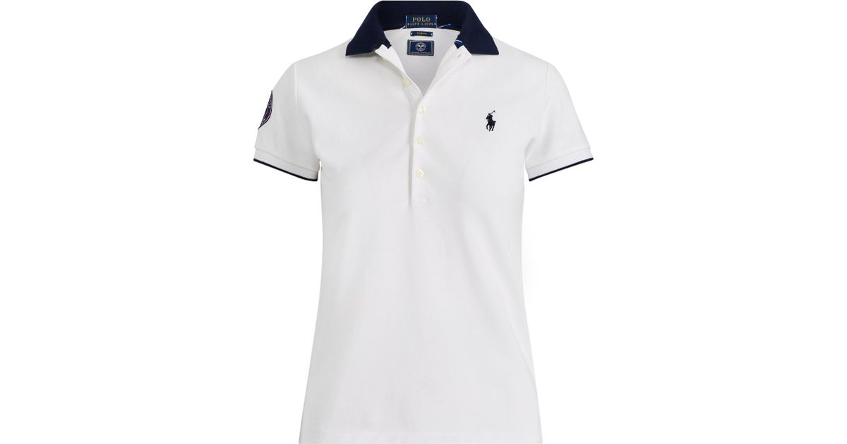 aad54296 ... germany lyst polo ralph lauren wimbledon slim fit polo shirt in blue  2cacc ffd4b