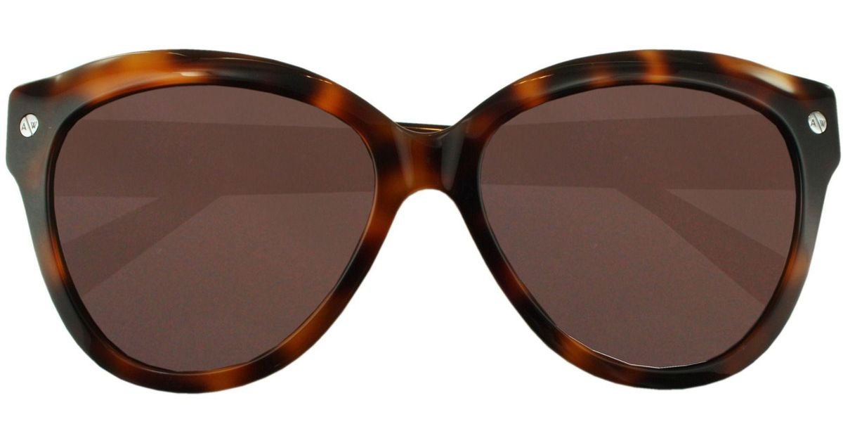 57a8dc1661cc8 Lyst - Amanda Wakeley The Chelsea Tortoiseshell Sunglasses in Brown