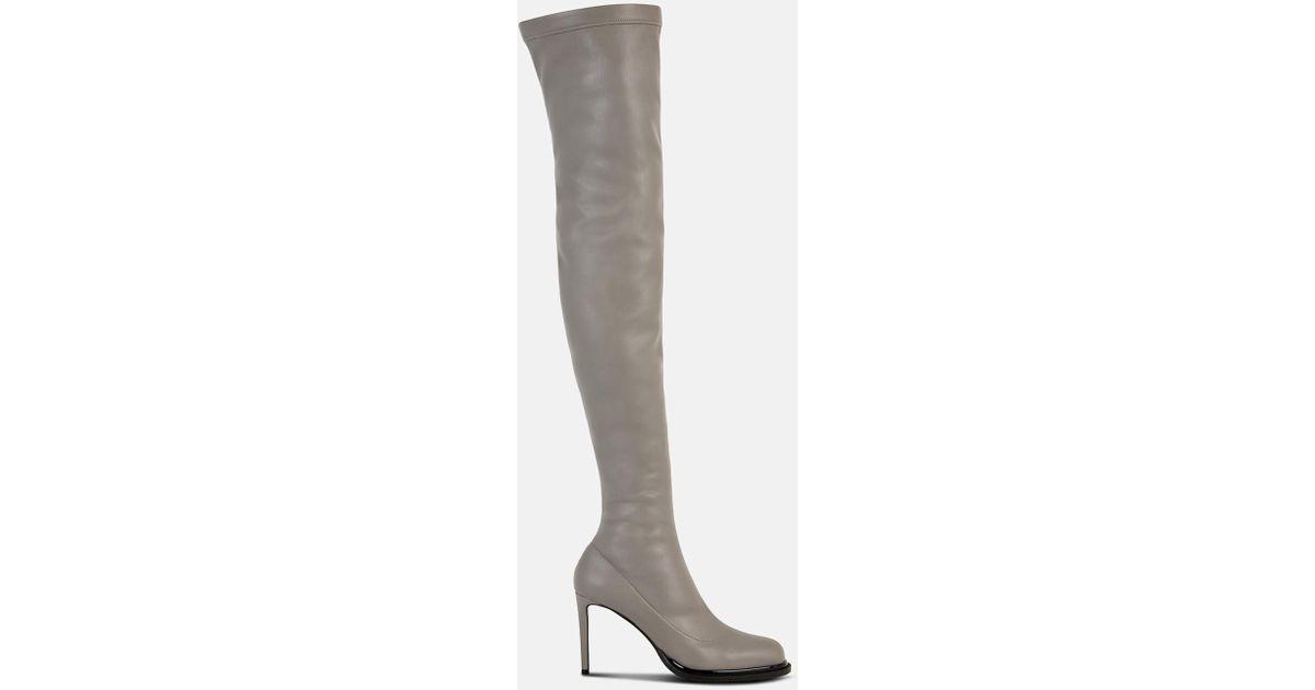 5dea6e660c7 Lyst - Stella McCartney Black Thigh-high Boots in Gray