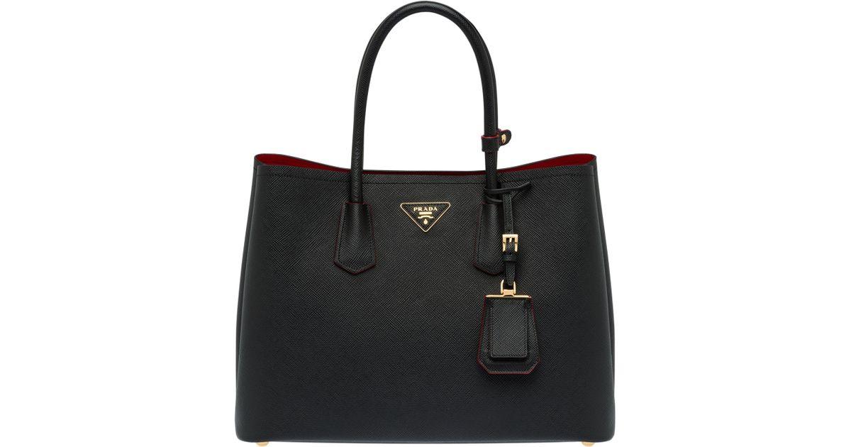279db3600092 Lyst - Prada Double Bag Large in Black